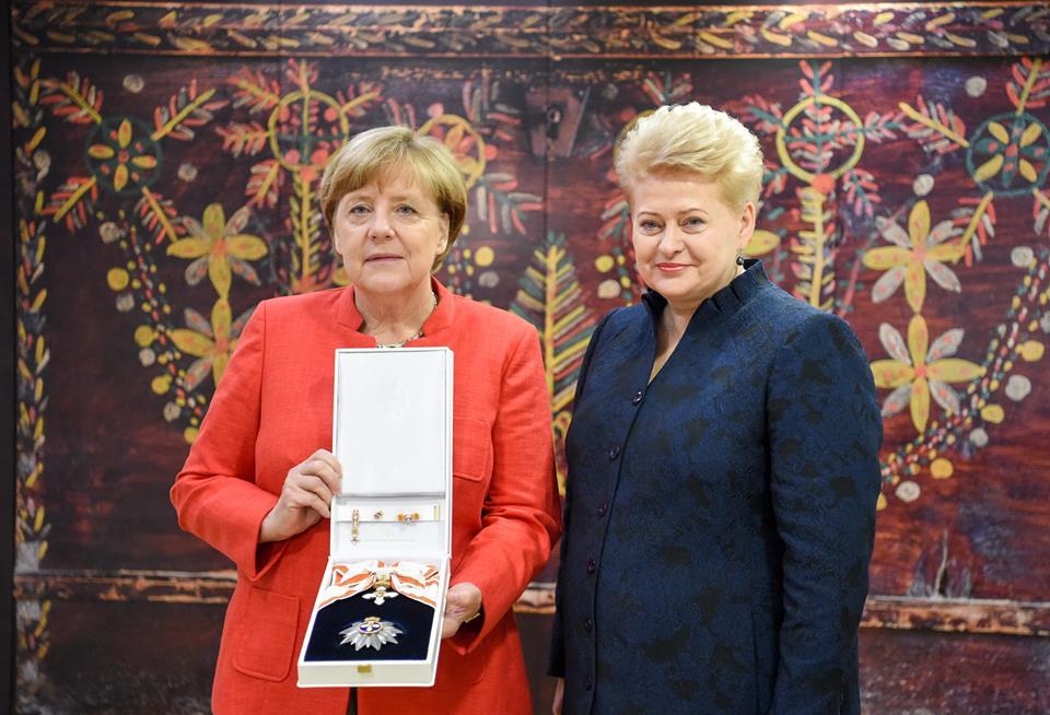 Grybauskaite ir Merkel