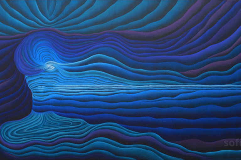 """Sofia Balas, Dimensional Art Collection: """"The Blue Oceans Talking to my Soul"""""""